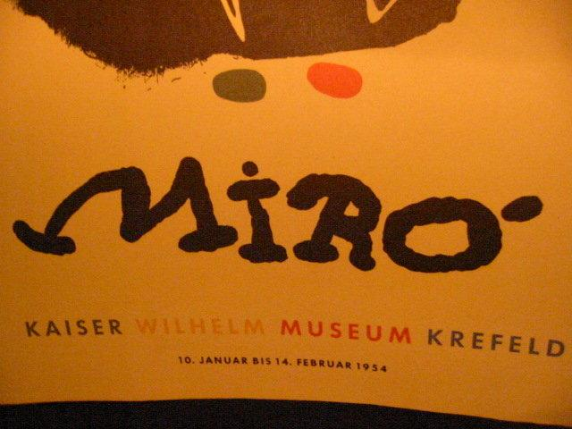 Joan Miro Abstract Painting 1954 Lithograph Signed