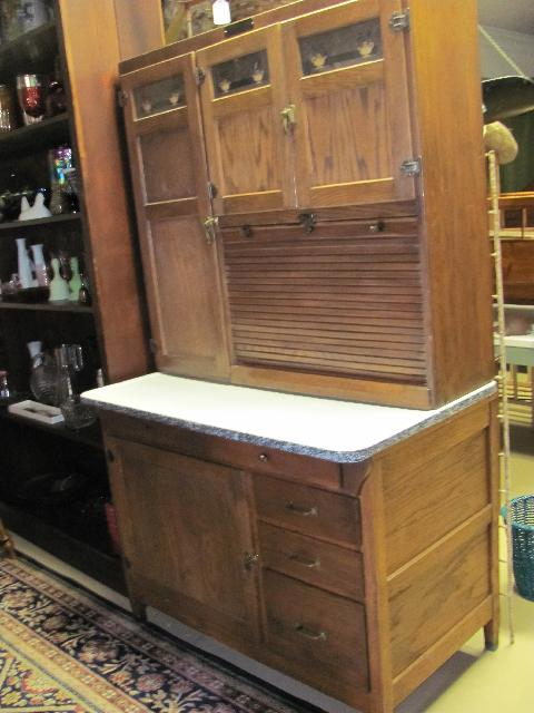 Antique Early Mcdougall Hoosier Cabinet